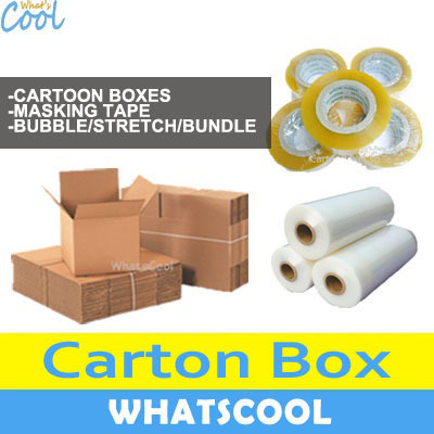 WhatsCoolNew Carton Box Packaging Storage Boxes Moving House Masking Tape  Plastic Wrap Cling Bubble Wrap On