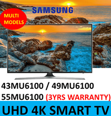 SAMSUNG UA43MU6100 | 49MU6100 | UA55MU6100 Smart 4K Ultra HD HDR LED TV