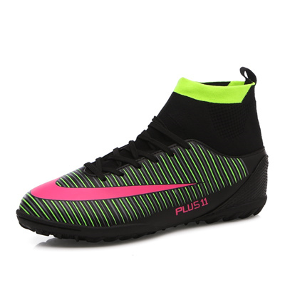 d6736d9c05c8 FANCIHAWAY New Men Football Boots TF High Ankle FG Soccer Shoes Turf  Superfly Outdoor Futsal Cleats