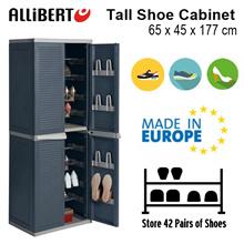 [ALLIBERT] Tall Shoe Cabinet | Indoor Storage | 42 Pairs of Shoes Rack | Lockable | Water resistant