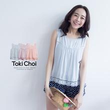 TOKICHOI - Lace Insert Detail Vest Top-6011819