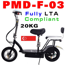 Fully LTA compliant with 2 seats Lithium Electric Scooter E-scooter Escooter