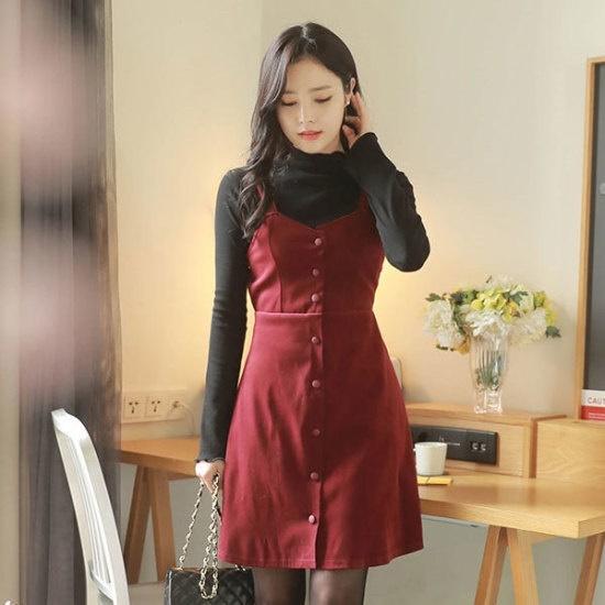 フィオナローズスエードopsm5357ワンピース 綿ワンピース/ 韓国ファッション