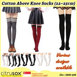 [Citrusox] Women Cotton Above Knee High Socks