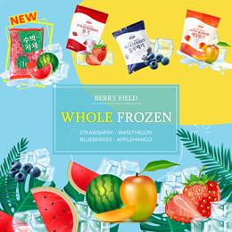 [BERRY FIELD]★Whole Frozen 100% Real Fruit 1Kg★Strawbarry/Watetmelon/Blueberries/Applemangos