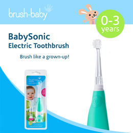 Brush-Baby | BrushBaby Baby Sonic Electric Toothbrush 0-3 Years / 3 -6 years | Children Toothbrush