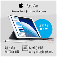 [2019 New Release] Apple iPad Air 2019 / 10.5in Display / 64GB ROM / A12 Bionic chip w Neural Engine