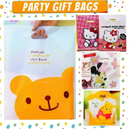 Cute Goodie bags party packaging/cute cartoon plastic bags /party bag/party gift bag