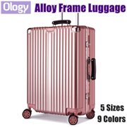9 Colors! 20-29 Inch Travel Aluminum Alloy Frame Luggage Bag Suitcase TSA Lock
