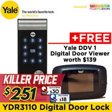 Yale YDR3110 Digital Door Lock + Free DDV1 (Local Yale Warranty) (FREE Installation)