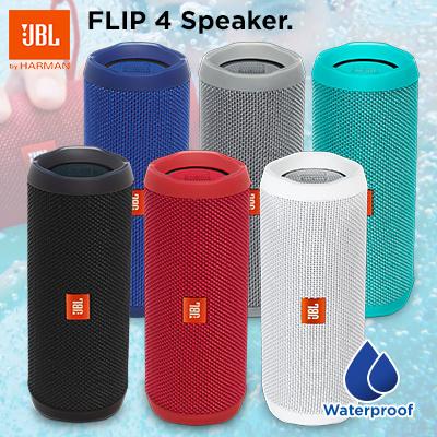 JBL Flip 4 Waterproof Bluetooth Speaker ( 1 YEAR WARRANTY)