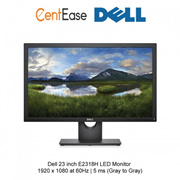 Dell 23 inch E2318H LED Monitor - 1920 x 1080 at 60Hz| 5 ms (grey to grey)