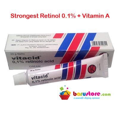 Vitacid 01% Skincare Cream for Antiaging Acne Wrinkles Blemishes