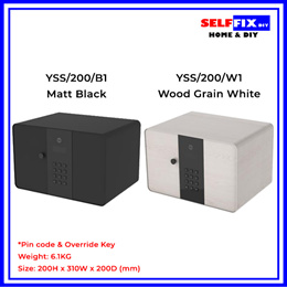 【Yale】Home Security Safe - Matt Black YSS/200/B1 / Wood Grain White YSS/200/W1