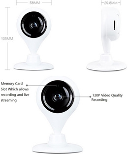 Brand New 720p Wireless Day and Night IP Camera. 360 rotation. Ultra Sleek Design. Plug and Play. iPhone Android. MicroSD up to 32gb. Local SG Stock and warranty !!