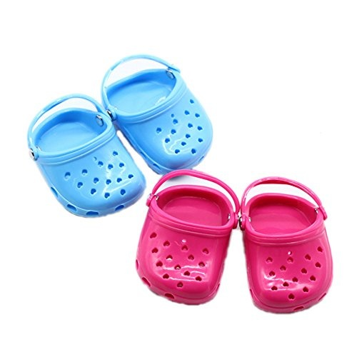 63719729bc0a fit to viewer. prev next. Papabasi Hot Pink Blue Polliwog Doll Shoes Set