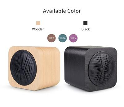 Bluetooth Speaker Wooden Cube Caixa De Som Speaker Tf Card Speakers Radio Fm Subwoofer