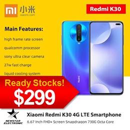 Xiaomi Redmi K30 4G LTE Smartphone 6.67 Inch FHD+ Screen Snapdragon 730G Octa Core