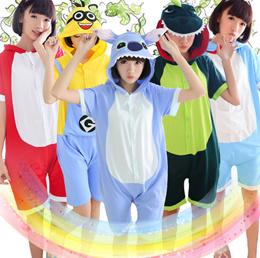 Summer Cartoon One Piece Sleepwear Cute Pajamas Anime Cosplay Pyjamas  Costume Hoodie Adult Party Dress S M L 2d7b49c1b