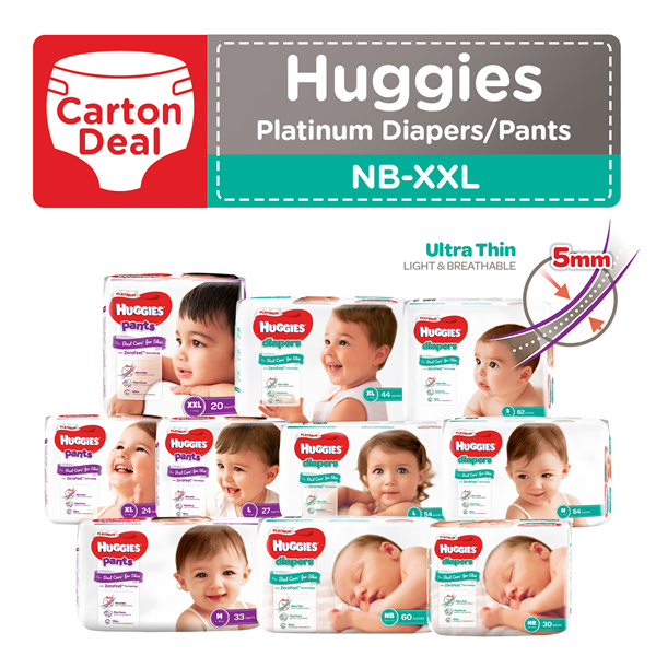 [APPLY Q10 CART COUPON] NEW HUGGIES Platinum Diapers Tape and Pants Deals for only S$83.8 instead of S$83.8