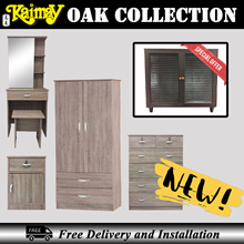 OAK collection Wardrobe and chest of drawer