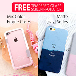 [ Window Cases ] iPhone 6/6 Plus :: iPhone 6S/iPhone 6S Plus :: Window Case / Transparent back case Design / Super Light / lots of colour choices