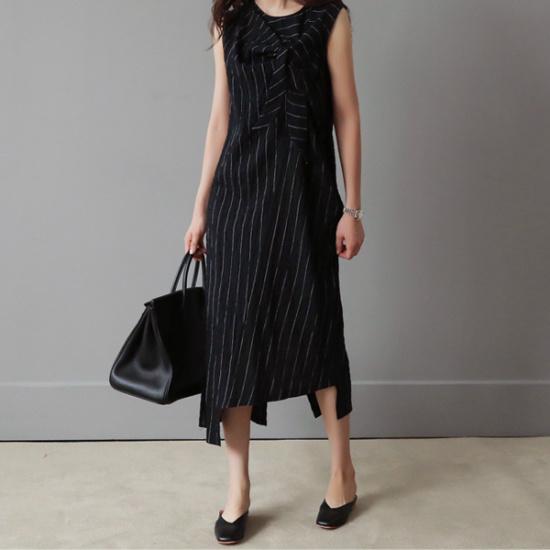 ビナインディブスワンピース 塔/袖なしのワンピース/ 韓国ファッション