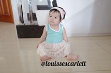 Dress anak perempuan / bayi perempuan import kode 029 brukat