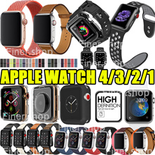 iWatch4 collection Strap Watch Band Accessories case Tempered Glass for  Apple watch series 4 3 2 a382a3b61efe