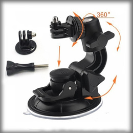 GoPro accessories 9CM Multi-Purpose Suction Cup Mount Universal Car Vehicle Holder for gopro4/3+/3/2