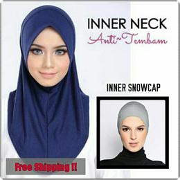 * Restock 16/7/18 * Inner Anti Tembam | Anti Tembam Dagu | Snowcap | Hijab Inner | Muslimah |