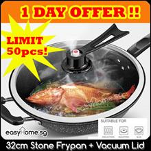 Low Price! 32cm Stone Frying Pan N Vacuum Lid / Omelette Pan/ Flip Jack Pancake maker