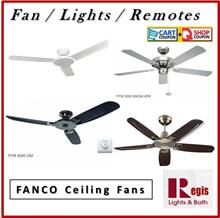 Black Friday Sale! Fanco Ceiling Fan FFM3000/FFM2000/FFM4000/FFM6000/ACON Light Kits+Remote+LED Bulb