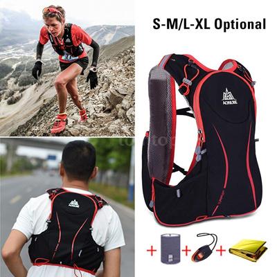5464d9cd05 AONIJIE 5L Outdoor Sport Running Vest Backpack Women/Men Hydration Vest  Pack for 1.5L