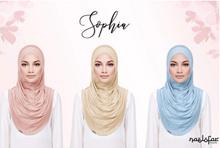 Sophia* Naelofar Hijabs* Premium Cotton Lycra* Instant* Muslimah* Fuss Free