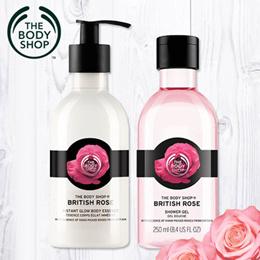 THE BODY SHOP TEA TREE / VIT E/ELDERFLOWER/ BRITISH ROSE