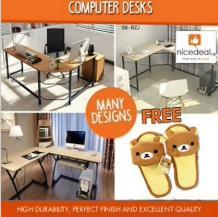 (Free Gift) High Durability Computer Desk / Study Table / Office and Home Use / YC121 812 701 S6 S8