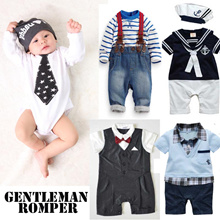 Baby Boy Kids Gentleman Tuxedo Romper / Jacket / Jumpsuit / Blazer Formal Coat Studio Photo cosplay