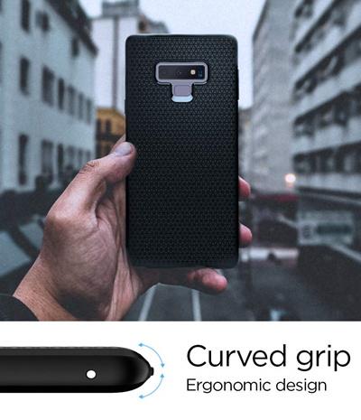 low cost 2ef32 b426a [ SPIGEN]Spigen Liquid Air Armor Galaxy Note 9 Case with Durable Flex and  Easy Grip Design