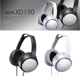 [100% 정품] 소니 SONY 고음질 스테레오 헤드폰 MDR-XD150 / 밀폐형 텔레비전 오디오용 ZX110 2종 특가 / 무료배송