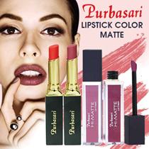 Get 2 Lipstic Purbasari  (NEW LIPCREAM HI MATTE  + LIPSTIK MATTE)