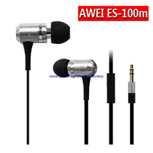 TV Awei ES-100m Q5 Stereo In-ear Earphone Headphone Stylish Bass Earbuds for Smartphones MP3 Players