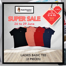 WHILE STOCKS LAST ! [2 FOR $14.90] HUSH PUPPIES LADIES ROUND NECK TEE#HLT856762 |MULTI|TOP| T SHIRT