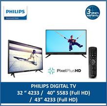 {LATEST} Philips Slim LED DIGITAL TV in 32 inch 32PHT4233   40 inch 40PFT5583   43 inch 43PFT4233