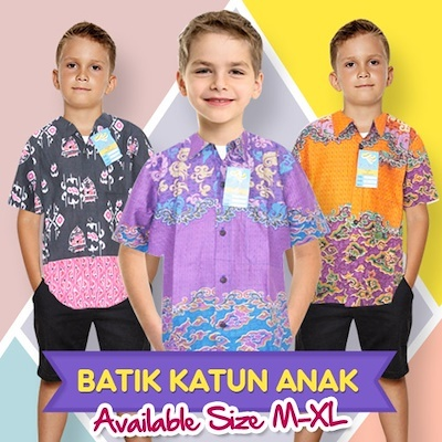 Batik Alhadi Hem Katun Anak Collections Deals for only Rp25.000 instead of Rp25.000