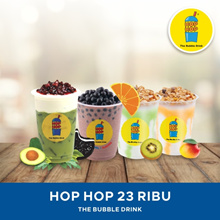 [Q*coin ONLY] Hop Hop Bubble Drink/ Value E-Voucher/ 23K