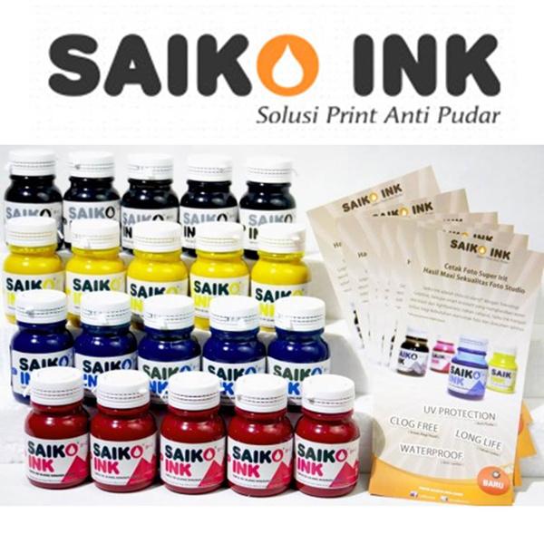 Saiko Ink Griptive Tinta Refill for Printer Epson 100ML Deals for only Rp137.500 instead of Rp137.500