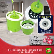 【3M Scotch Brite】Single Spin Mop Bucket - Compact in size powerful in cleaning!