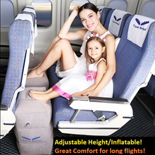 Travel Footrest/Pillow/Inflatables for long haul flight/Great for Children comfort
