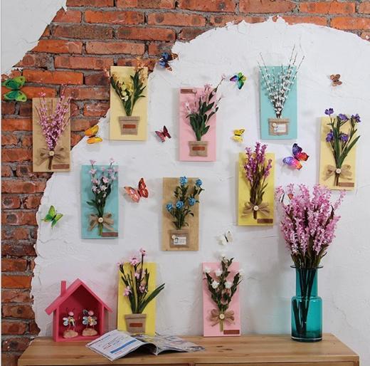 Artificial Flower Wall Decal
